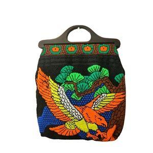 Vintage 80s micro beaded purse 👛 🦅